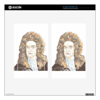 Sir Isaac Newton Decal For Kindle Fire