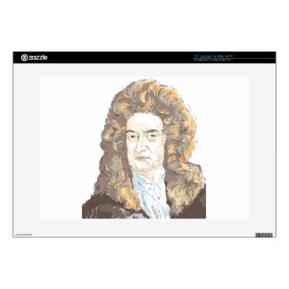 """Sir Isaac Newton Decals For 15"""" Laptops"""