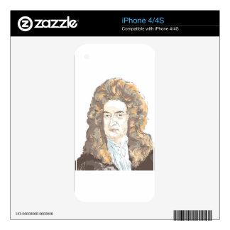 Sir Isaac Newton iPhone 4 Skins