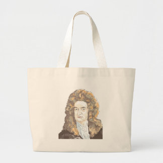 Sir Isaac Newton Large Tote Bag