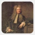 Sir Isaac Newton Pegatina Cuadrada
