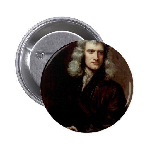 sir Isaac Newton Pin Redondo 5 Cm