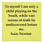 sir isaac newton quote poster