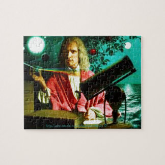 """""""Sir Isaac Newton rodeado por símbolos """" Rompecabezas Con Fotos"""
