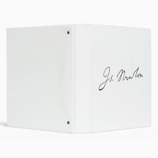 Sir Isaac Newton Signature Autograph Binder
