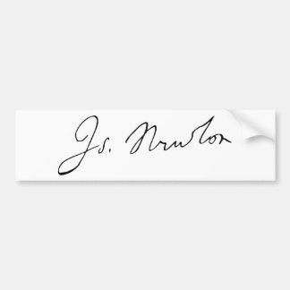 Sir Isaac Newton Signature Autograph Car Bumper Sticker