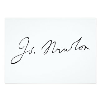 Sir Isaac Newton Signature Autograph Card
