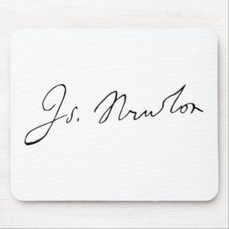 Sir Isaac Newton Signature Autograph Mouse Pad