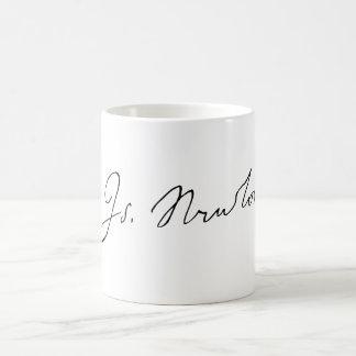 Sir Isaac Newton Signature Autograph Coffee Mug