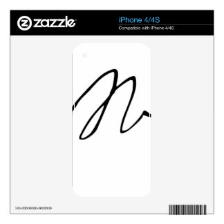 Sir Isaac Newton Signature Autograph Skins For iPhone 4S
