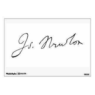 Sir Isaac Newton Signature Autograph Room Sticker