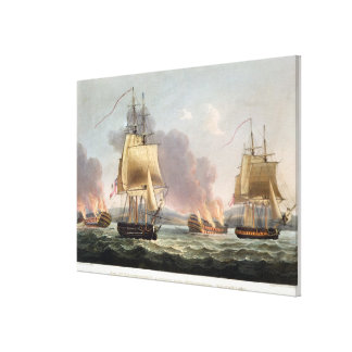 Sir J T Duckworth s Action off St Domingo Febr Stretched Canvas Prints