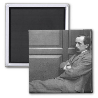 Sir James Matthew Barrie (1860-1937) (b/w photo) 2 Inch Square Magnet
