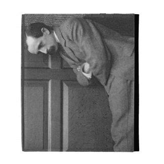 Sir James Matthew Barrie (1860-1937) (b/w photo) iPad Folio Cases