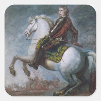 Sir Jeffrey Amherst (1717-97) c.1768 (oil on canva Square Sticker