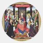 Sir John Donne de Marienaltar de Kidwelly Pegatinas Redondas