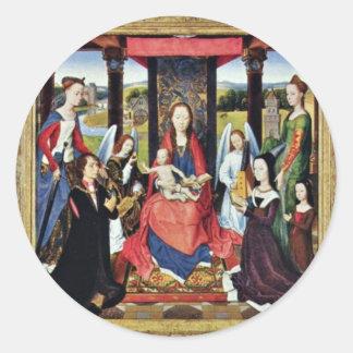 Sir John Donne de Marienaltar de Kidwelly Pegatina Redonda