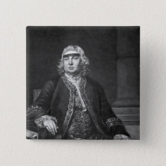 Sir John Fielding, engraved by James McArdell Pinback Button