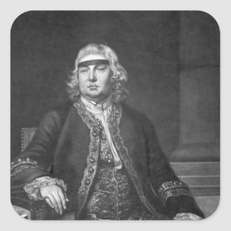 Sir John Fielding, engraved by James McArdell Square Sticker