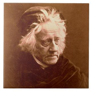 Sir John Frederick William Herschel (1792-1871) 18 Large Square Tile