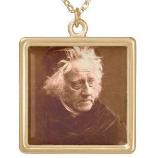 Sir John Frederick William Herschel (1792-1871) 18 Square Pendant Necklace