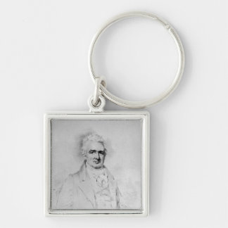 Sir John Thomas Stanley Bart Silver-Colored Square Keychain