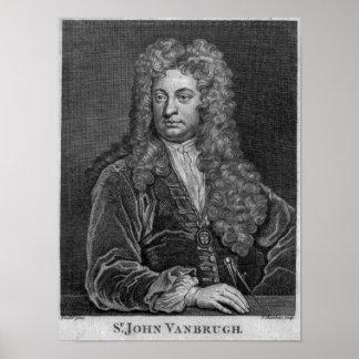 Sir John Vanbrugh, engraved by Thomas Chambars Poster