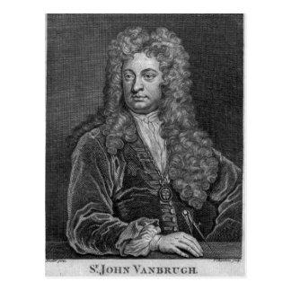 Sir John Vanbrugh, grabado por Thomas Chambars Postales