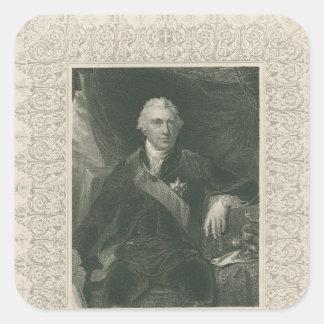 Sir José Banks Pegatina Cuadrada