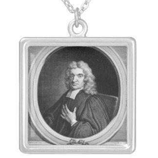 Sir Juan Flamsteed, grabado por George Vertue Collar Plateado