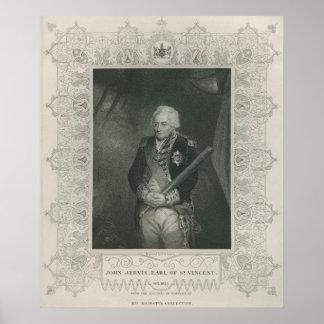Sir Juan Jervis en 1795 Poster