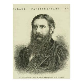 Sir Julius Vogel, KCMG Postcard