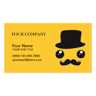 Sir Kawaii Moustache Holmes Business Card