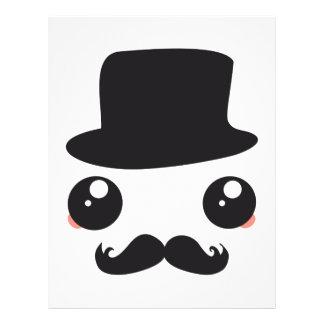 "Sir Kawaii Moustache Holmes Folleto 8.5"" X 11"""