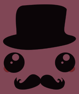 Sir Kawaii Moustache Holmes Tee Shirt