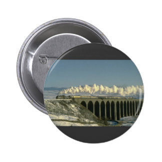 Sir Lamiel crosses Ribblehead Viaduct on the Settl Pinback Button