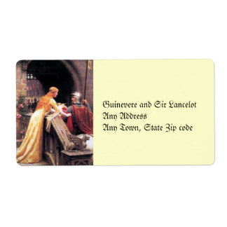 Sir Lancelot and Guinevere on the Stairs Shipping Label