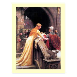 Sir Lancelot and Guinevere on the Stairs Postcard