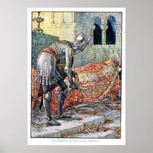 Sir Lancelot en la capilla peligrosa Póster