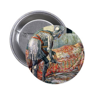 Sir Lancelot in the Chapel Perilous Pinback Buttons