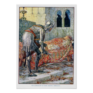 Sir Lancelot in the Chapel Perilous Poster