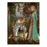 Sir Launcelot and Queen Guinevere Postcard