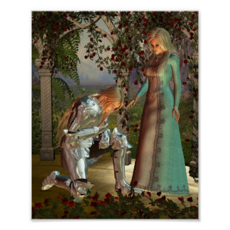 Sir Launcelot and Queen Guinevere Print