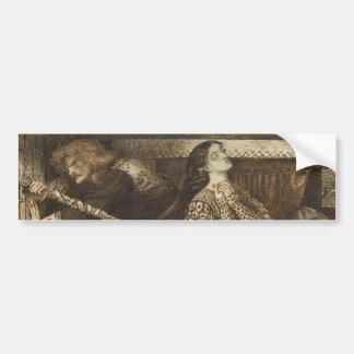 Sir Launcelot in Queen's Chamber Dante Rossetti Car Bumper Sticker