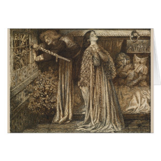 Sir Launcelot in Queen's Chamber Dante Rossetti Cards