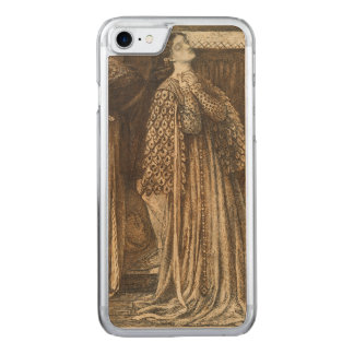 Sir Launcelot in Queen's Chamber Dante Rossetti Carved iPhone 8/7 Case