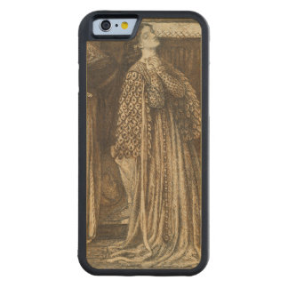 Sir Launcelot in Queen's Chamber Dante Rossetti Carved Maple iPhone 6 Bumper Case