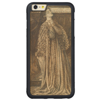 Sir Launcelot in Queen's Chamber Dante Rossetti Carved Maple iPhone 6 Plus Bumper Case