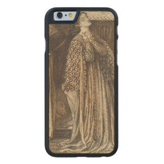Sir Launcelot in Queen's Chamber Dante Rossetti Carved Maple iPhone 6 Slim Case