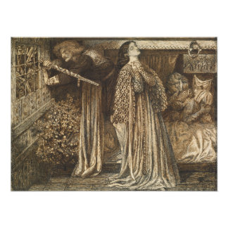 Sir Launcelot in Queen's Chamber Dante Rossetti Photograph